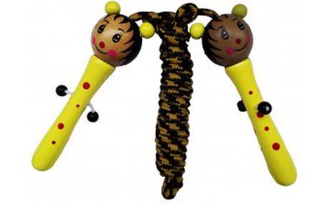 Hračka a cvičební pomůcka pro děti - dětské švihadlo - Včelka. Motivy krásně malovaných zvířátek.