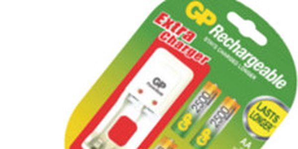 Výkonné nabíjecí baterie GP s nabíječkou. Ideální set pro váš digitální fotoaparát