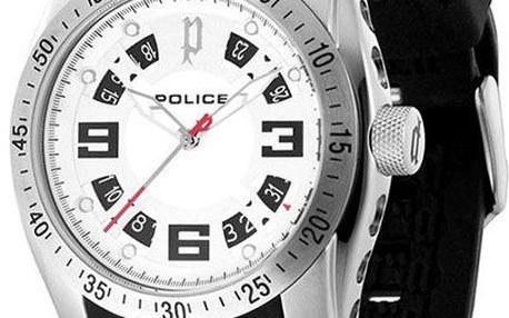 Unisex módní hodinky Police TopGear X. Minerální sklíčko, quartz baterie, ocelové pouzdro.