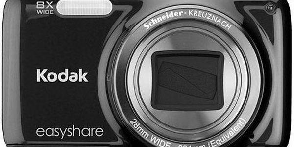 Kompaktní tenký digitální fotoaparát Kodak EasyShare M583. 8x optický zoom Schneider-KREUZNACH.