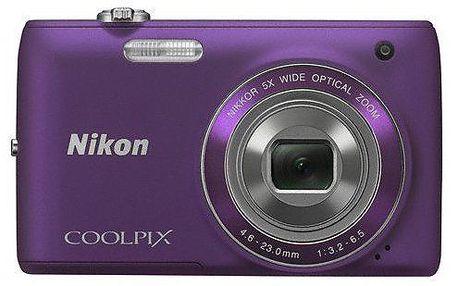 Elegantní fotoaparát NIKON Coolpix S4150. HD video. 5 x zoom. Ploché a ergonomické tělo.