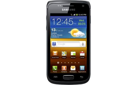 """Samsung Galaxy W s 3,7"""" dotykovým LCD displejem, 5 megapixelovým fotoaparátem, WiFi připojením a navigací GPS."""