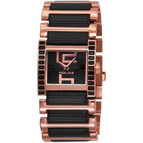 Elegantní dámské hodinky Police Elation PL11748LSR/02M se skleněnými kamínky.
