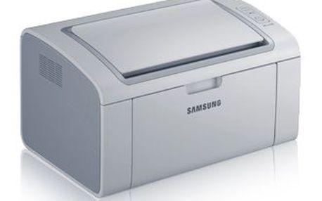 Laserová tiskárna Samsung ML-2160. Jednoduchá a malá černobílá tiskárna s pohodlnou obsluhou.