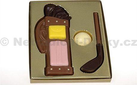 Čokoládový golf. Ručně vyráběná sada z pravé belgické čokolády