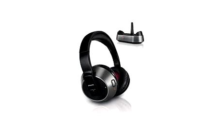 Bezdrátová sluchátka Philips SHC 8535, reproduktory Neodymium 40 mm