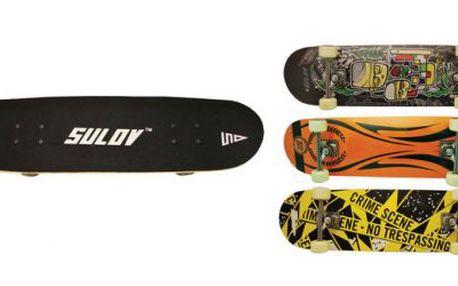 Skateboard Sulov 9, Deska: 9 vrstvý, kanadský javor, konkávní, double kick