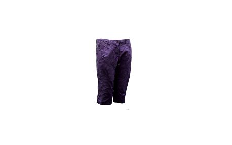 Dámské kalhoty pod kolena s ozdobným prošitím LOAP, fialová barva
