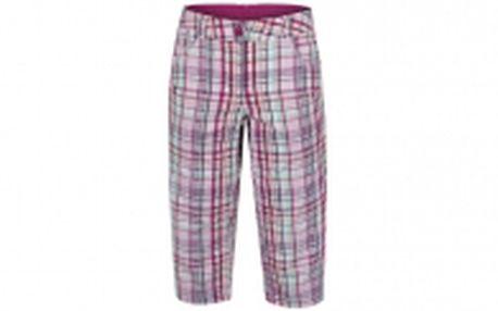 Dámské kalhoty pod kolena s ozdobným prošitím LOAP, kostkovaný vzor