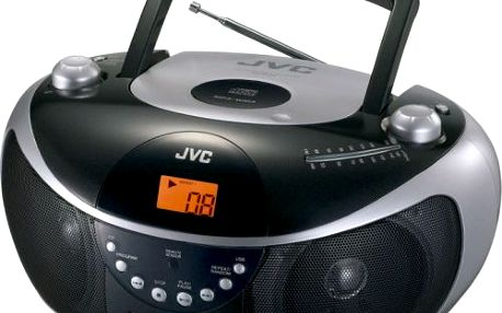 Radiomagnetofon jvc cd, cd-r/rw, mp3, wma, lcd, fm rádio, 3w, usb host, černý.