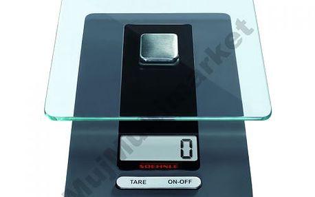 Leifheit 65106 - digitální kuchyňská váha s odnímatelnou měřící plochou z bezpečnostního skla
