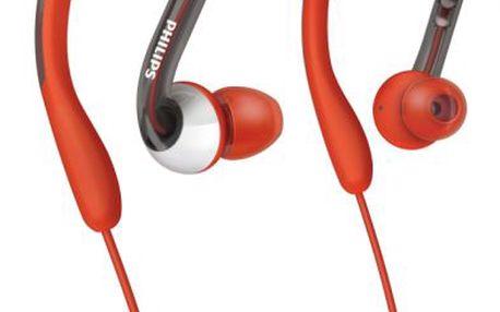 Sportovní sluchátka philips SHQ 3000 s ultra pružnými silikonovými špunty pro vaše pohodlí.