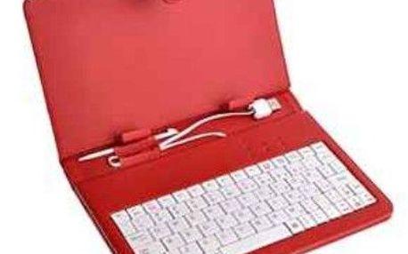 """Pouzdro na tablet Eaget Soho F7B 7"""" s klavesnicí universal - červené"""