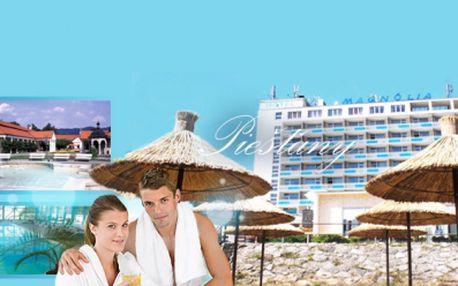 Hotel Magnolia**** Piešťany! Bohatá POLOPENZE, vstup do BAZÉNU, INFRASAUNA a PROCEDURA dle výběru jen za 2699 Kč pro dva! Lázeňský relax se slevou 50%!