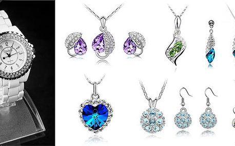 Kupon opravňující ke slevě na 66 % slevu na šperky Swarovski Elements a hodinky Sinobi