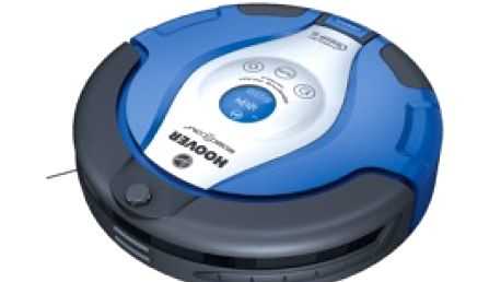 Robotický vysavač Hoover RBC003 s dotykovým nebo rádiovým dálkovým ovládáním.