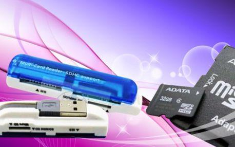 Usb adaptér + micro sd carta 32gb. + adaptér za pouhých 399 kč včetně poštovného! Mixujte karty na mobil, ipad, fotoaparát nebo pc se slevou 50%!