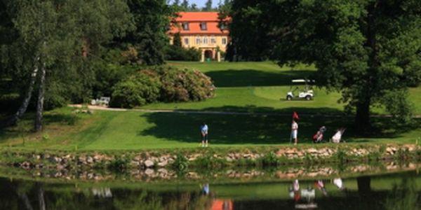 Vychutnejte si luxusní golf na Štiříně se slevou 50%. Green fee 18 jamek, oběd v hodnotě 120 Kč, vířivka 30 min., sauna 30 min. Kdykoliv v letošní sezóně za 590 Kč.