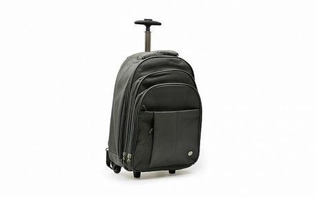 Šedá taška na kolečkách a zároveň batoh Abbacino