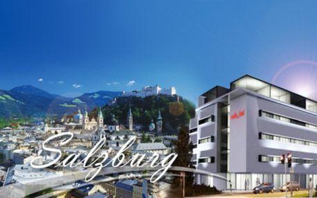 Zažite 4 * luxus v centre historického Salzburgu! Ubytovanie na 4 dni pre 2 osoby vrátane bohatých raňajok formou rautu za neodolateľnú cenu 219 Eur! Poukaz platný 3 roky!