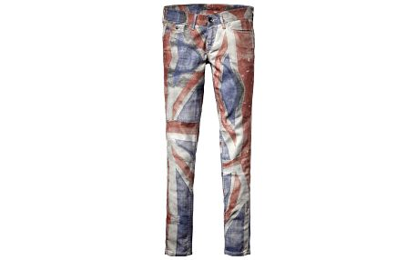 Dámske skinny Pepe jeans s britskou vlajkou