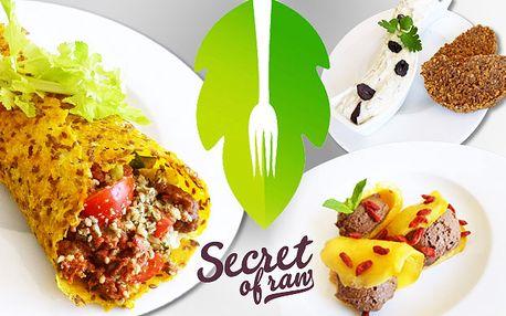 Exkluzivní tříchodové raw food menu
