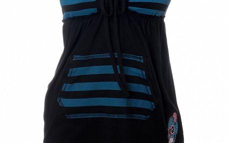 Dámský černo-modrý pruhovaný top 13 Cats