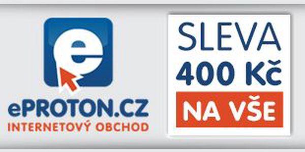 Sleva 400 Kč při nákupu jakéhokoliv produktu nad 10 000 Kč na ePROTON.cz