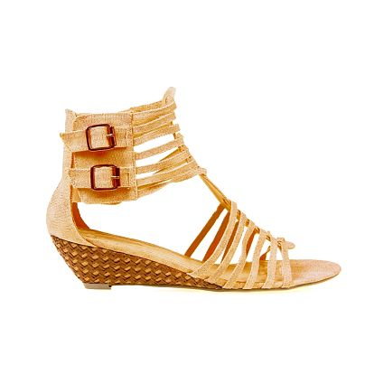 Dámské béžové textilní sandály Sofiniel