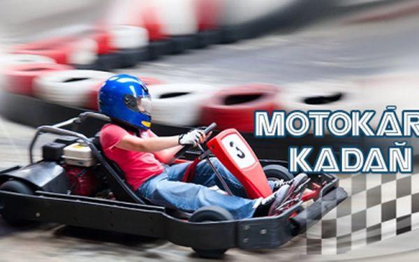 MOTOKÁRY v Kadani! 2x 10 minut adrenalinové jízdy na kryté motokárové dráze jen za 220 Kč, včetně zapůjčení helmy! Dávku adrenalinu si nyní můžete dopřát se slevou 31%!