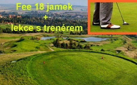 Vyražte do Slavkova u Brna, vychutnejte si 18 mistrovských jamek v golfovém resortu Austerlitz a k tomu si dejte do těla v rámci 45min. golfové lekce s profesionálním trenérem.