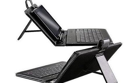 """Koženkové pouzdro + qwerty klávesnice na tablet 7"""""""