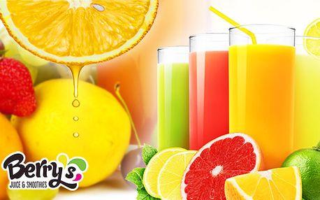 Půllitru ovoce v nápoji - fresh, smoothie nebo koktejl v novém Berry's baru