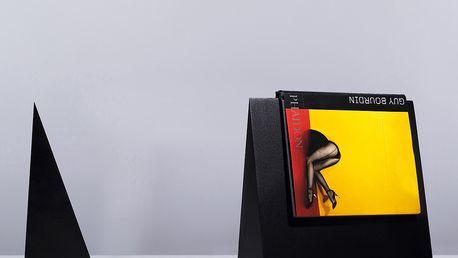 Záložka na knihy, černá. Praktický výrobek a skvělý doplněk interiéru.