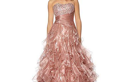 Růžové šaty Swan