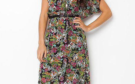 Asymetrické květované šaty