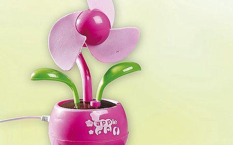 Stolní USB větrák kytka v originálním designu květiny