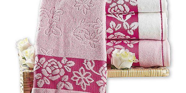 4Home žakárové ručníky, 50 x 90 cm, sada 4 ks, 50 x 90 cm