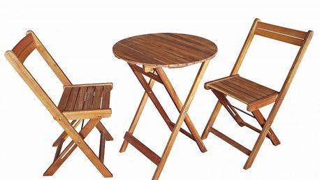 Ideální balkónový Bistro set vyrobený zexotického dřeva akácie DOMO