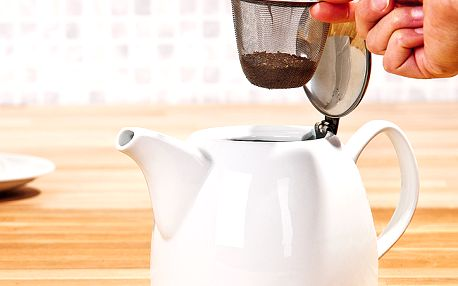 Konvice na čaj - součástí nerezové sítko na sypaný čaj