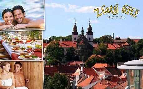 3denní pobyt pro 2 s polopenzí v hotelu Zlatý Kříž v Třebíči