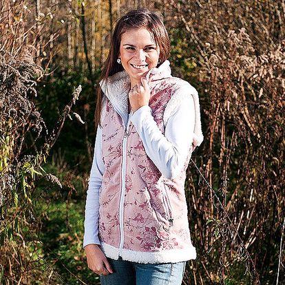 Luxusní dámská vesta béžová XL