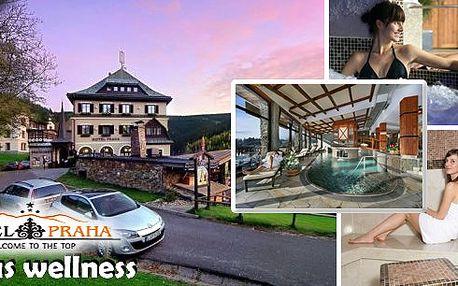 Luxusní wellness pobyt pro dva v oblíbeném hotelu Praha**** Špindlerův Mlýn s bohatými snídaněmi, 3 chodovým gurmánským menu, neomezeným vstupem do Spa&Relax centra - tři druhy saun, laconium, whirlpool a mnoho dalších bonusů!!