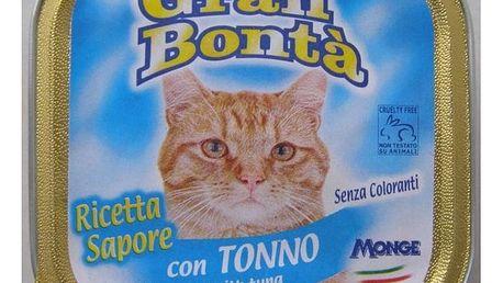 Paštika Gran Bonta s tuňákem pro kočky, 100g