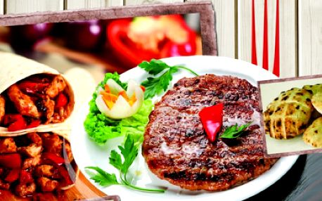 Gurmánský zážitek přímo v centru Brna! Navštivte nově otevřené bistro The Grill a poznejte chutě a vůně Balkánu za super cenu! BURGER PLESKAVICE nebo KUŘECÍ KEBAB s HRANOLKAMI a NÁPOJEM nabízíme jen za 98 Kč!