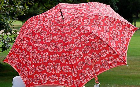Dámský korálový deštník Alvarez Romanelli s bílým vzorkem