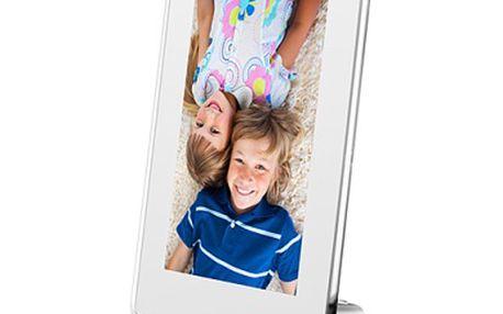 Fotorámeček digitální Hyundai LF 630 D, LCD, SD/SDHC, SLIM, bílý