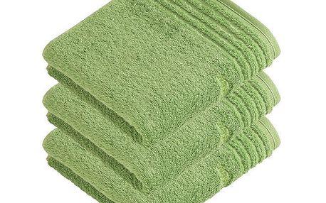 Vossen ručník Vienna Style Supersoft zelená, 50 x 100 cm, sada 3 ks, 50 x 100 cm