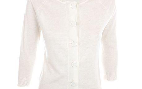 Dámský bílý svetřík s krajkovými rameny Nougat London