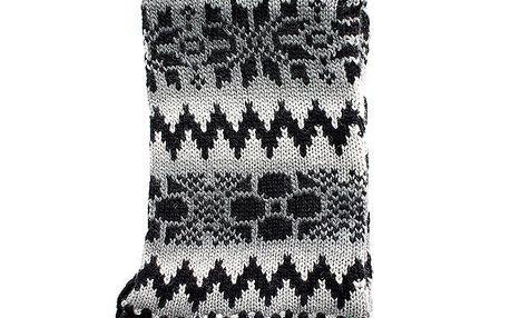 Dámská pletená šedočerná šála Nolita